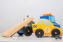 Load image into Gallery viewer, Melissa & Doug Flatbed Truck with Vehicle - Wood Wood Toys Canada's Favourite Montessori Toy Store