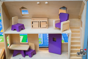 Melissa & Doug Fold and Go Wooden Dollhouse - Wood Wood Toys Canada's Favourite Montessori Toy Store