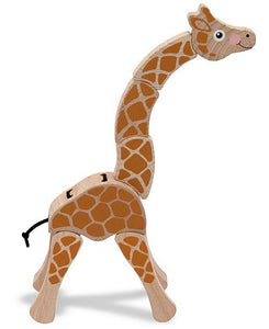 Melissa & Doug Giraffe Grasping Toy - Wood Wood Toys Canada's Favourite Montessori Toy Store