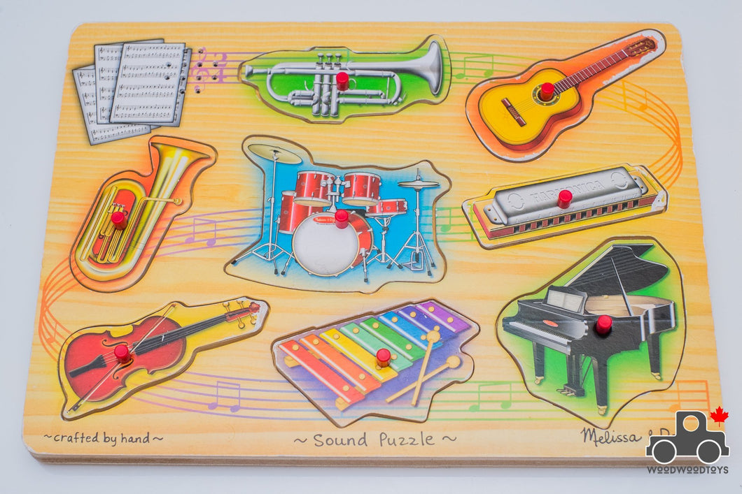 Melissa & Doug Instruments Sound Puzzle - Wood Wood Toys Canada's Favourite Montessori Toy Store