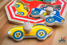 Load image into Gallery viewer, Melissa & Doug Jumbo Knob Vehicles Stop Sign Puzzle - Wood Wood Toys Canada's Favourite Montessori Toy Store