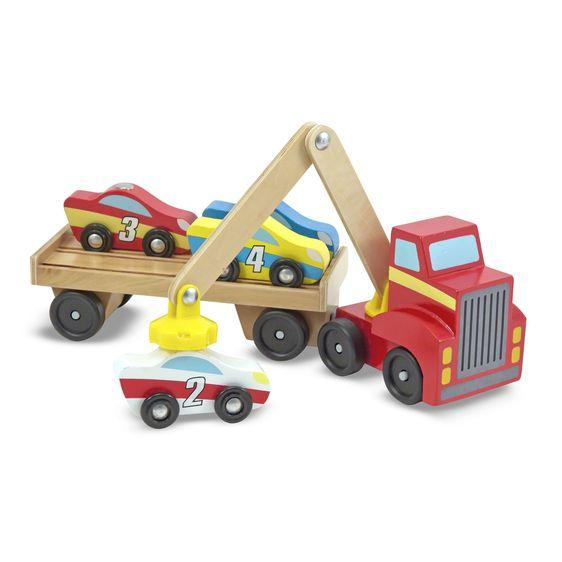 Melissa & Doug Magnetic Car Loader - Wood Wood Toys Canada's Favourite Montessori Toy Store