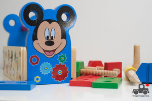Melissa & Doug Mickey Mouse Clubhouse Wooden Tool Kit - Wood Wood Toys Canada's Favourite Montessori Toy Store