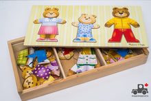 Load image into Gallery viewer, Melissa & Doug Mix 'n Match Wooden Bear Family Dress-Up Puzzle with Storage Case - Wood Wood Toys Canada's Favourite Montessori Toy Store