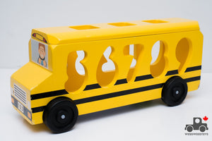 Melissa & Doug Number Matching Math Bus - Wood Wood Toys Canada's Favourite Montessori Toy Store