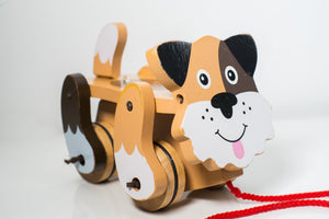 Melissa & Doug Playful puppy Pull Toy - Wood Wood Toys Canada's Favourite Montessori Toy Store
