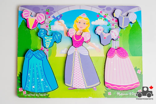 Melissa & Doug Royal Dress Up Puzzle - Wood Wood Toys Canada's Favourite Montessori Toy Store