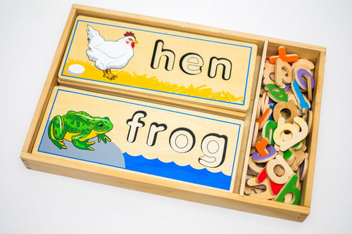 Melissa & Doug See & Spell Learning Game (Previously Loved) - Wood Wood Toys Canada's Favourite Montessori Toy Store