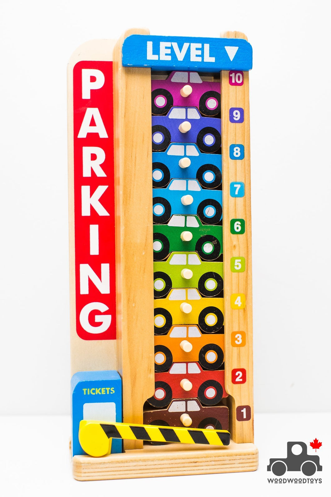 Melissa & Doug Stack & Count Parking Garage - Wood Wood Toys Canada's Favourite Montessori Toy Store