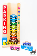 Load image into Gallery viewer, Melissa & Doug Stack & Count Parking Garage - Wood Wood Toys Canada's Favourite Montessori Toy Store