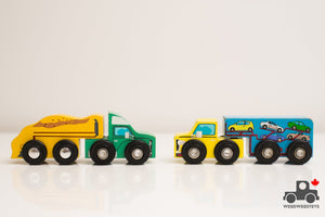 Melissa & Doug Truck and Trailer - Wood Wood Toys Canada's Favourite Montessori Toy Store