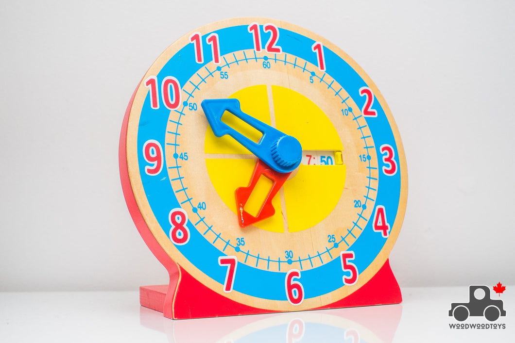Melissa & Doug Turn & Tell Wooden Clock - Wood Wood Toys Canada's Favourite Montessori Toy Store
