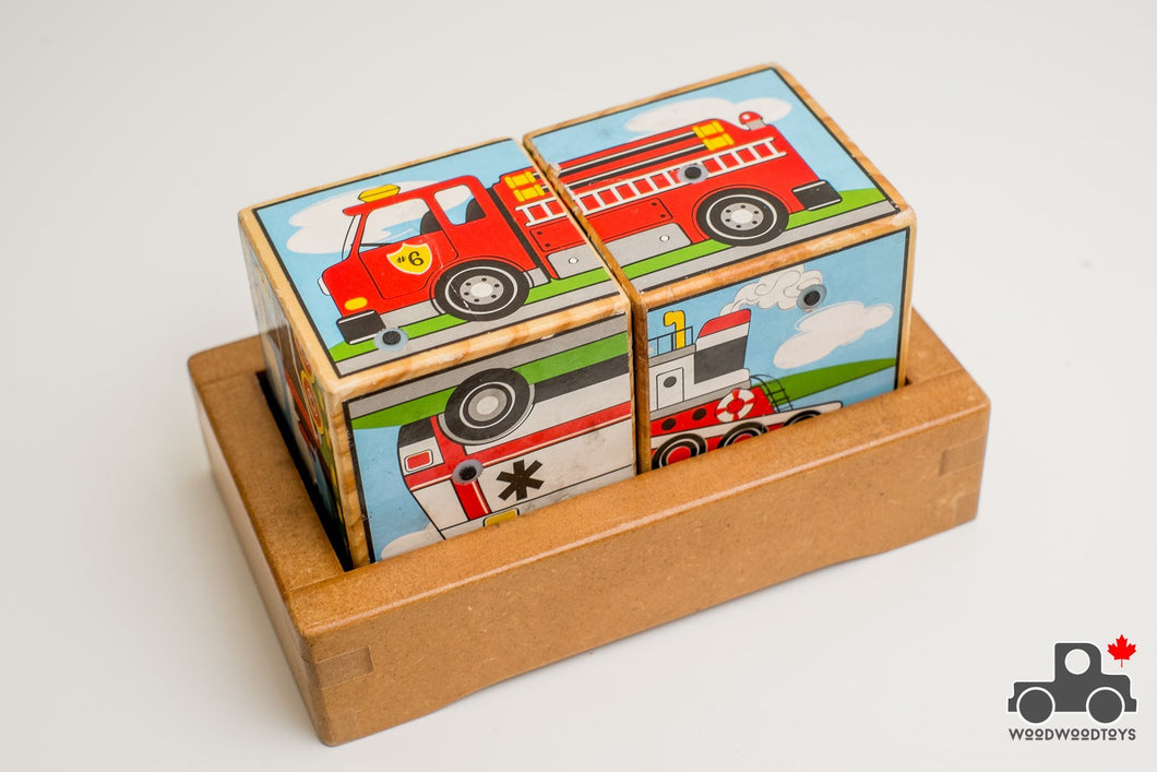 Melissa & Doug Vehicle Sound Blocks - Wood Wood Toys Canada's Favourite Montessori Toy Store