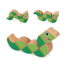 Load image into Gallery viewer, Melissa & Doug Wiggling Worm Grasping Baby Toy - Wood Wood Toys Canada's Favourite Montessori Toy Store