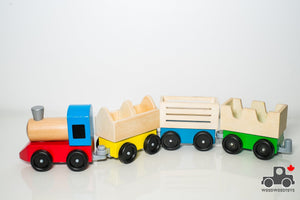 Melissa & Doug Wooden Farm Train - Wood Wood Toys Canada's Favourite Montessori Toy Store