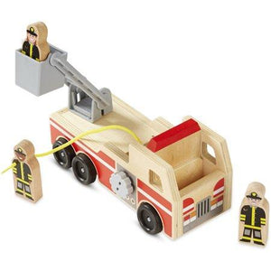 Melissa & Doug Wooden Fire Truck - Wood Wood Toys Canada's Favourite Montessori Toy Store