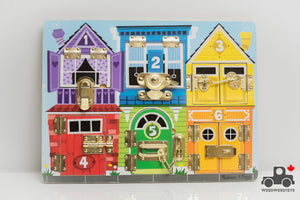 Melissa & Doug Wooden Latches Activity Board - Wood Wood Toys Canada's Favourite Montessori Toy Store