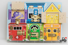 Load image into Gallery viewer, Melissa & Doug Wooden Latches Activity Board - Wood Wood Toys Canada's Favourite Montessori Toy Store