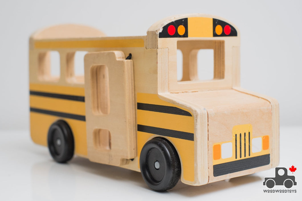 Melissa & Doug Wooden School Bus - Wood Wood Toys Canada's Favourite Montessori Toy Store