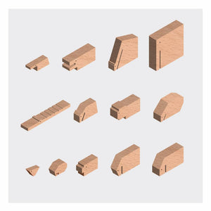 Minimal Wooden Animal Set by Floris Hovers - Wood Wood Toys Canada's Favourite Montessori Toy Store