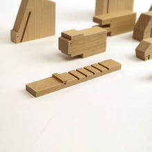 Load image into Gallery viewer, Minimal Wooden Animal Set by Floris Hovers - Wood Wood Toys Canada's Favourite Montessori Toy Store
