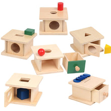 Load image into Gallery viewer, Montessori Geometric Shape Matching Box Sensory Toys Imbucare Box Early Learnng Toys For Toddlers Juguetes Montessori A1065H - Wood Wood Toys Canada's Favourite Montessori Toy Store