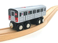 Load image into Gallery viewer, Munipals New York Subway Wooden Train Cars - Wood Wood Toys Canada's Favourite Montessori Toy Store