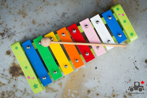 Musical Instrument Set: Xylophone and Mini Flute - Wood Wood Toys Canada's Favourite Montessori Toy Store