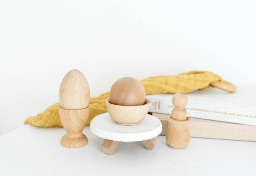 Natural Montessori Baby Toy Set by Legacy Learning Academy - Wood Wood Toys Canada's Favourite Montessori Toy Store