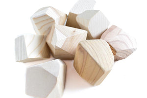Natural Rock Blocks (Set of 8) - Wood Wood Toys Canada's Favourite Montessori Toy Store