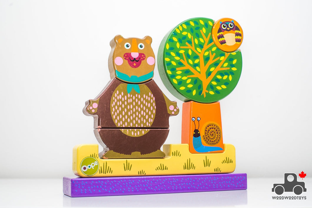 OOPS Magnetic Puzzle with Chocolate - Wood Wood Toys Canada's Favourite Montessori Toy Store