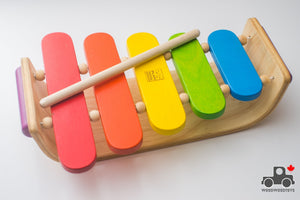 Oval Xylophone by Plan Toys - Wood Wood Toys Canada's Favourite Montessori Toy Store