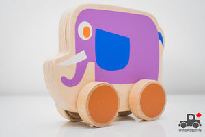 PBS Kids Elephant Push Toy - Wood Wood Toys Canada's Favourite Montessori Toy Store