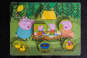 Peppa Pig Wooden Block Puzzle - Wood Wood Toys Canada's Favourite Montessori Toy Store