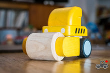 Load image into Gallery viewer, Plan Toys Mini Steamroller - Wood Wood Toys Canada's Favourite Montessori Toy Store