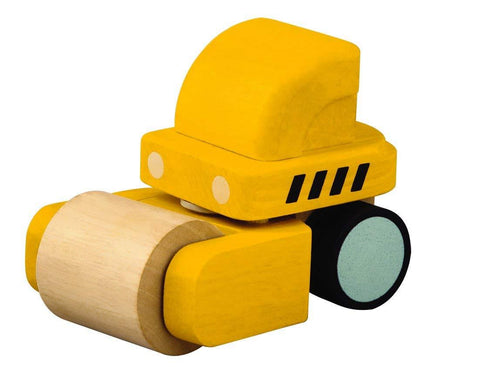 Plan Toys Mini Steamroller - Wood Wood Toys Canada's Favourite Montessori Toy Store