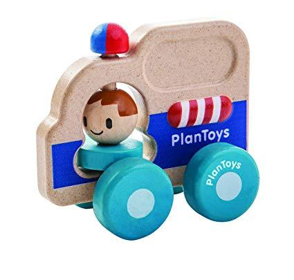 Plan Toys Rescue Car - Wood Wood Toys Canada's Favourite Montessori Toy Store