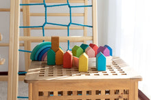 Load image into Gallery viewer, Rainbow House Blocks by Avdar Toys - Wood Wood Toys Canada's Favourite Montessori Toy Store