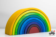 Load image into Gallery viewer, Refurbished 9 Piece Rainbow Stacker - Wood Wood Toys Canada's Favourite Montessori Toy Store