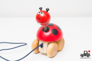 Richard Emond Miss Ladybird Pull Toy - Wood Wood Toys Canada's Favourite Montessori Toy Store