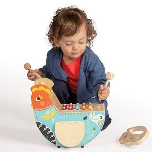 Rocking Musical Chicken by Manhattan Toys - Wood Wood Toys Canada's Favourite Montessori Toy Store