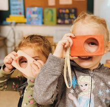 Load image into Gallery viewer, Say Cheese! Wooden Toy Camera by Avdar - Wood Wood Toys Canada's Favourite Montessori Toy Store