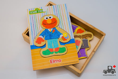 Sesame Street Elmo Mix and Match Dress-Up Wooden Play Set - Wood Wood Toys Canada's Favourite Montessori Toy Store