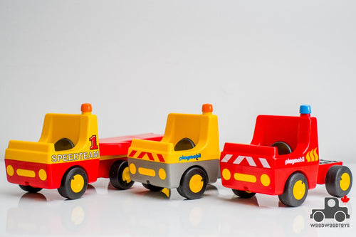Set of 3 Vintage Playmobil Trucks - Wood Wood Toys Canada's Favourite Montessori Toy Store