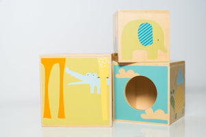 Skip Hop Giraffe Safari Nest & Play Blocks - Wood Wood Toys Canada's Favourite Montessori Toy Store