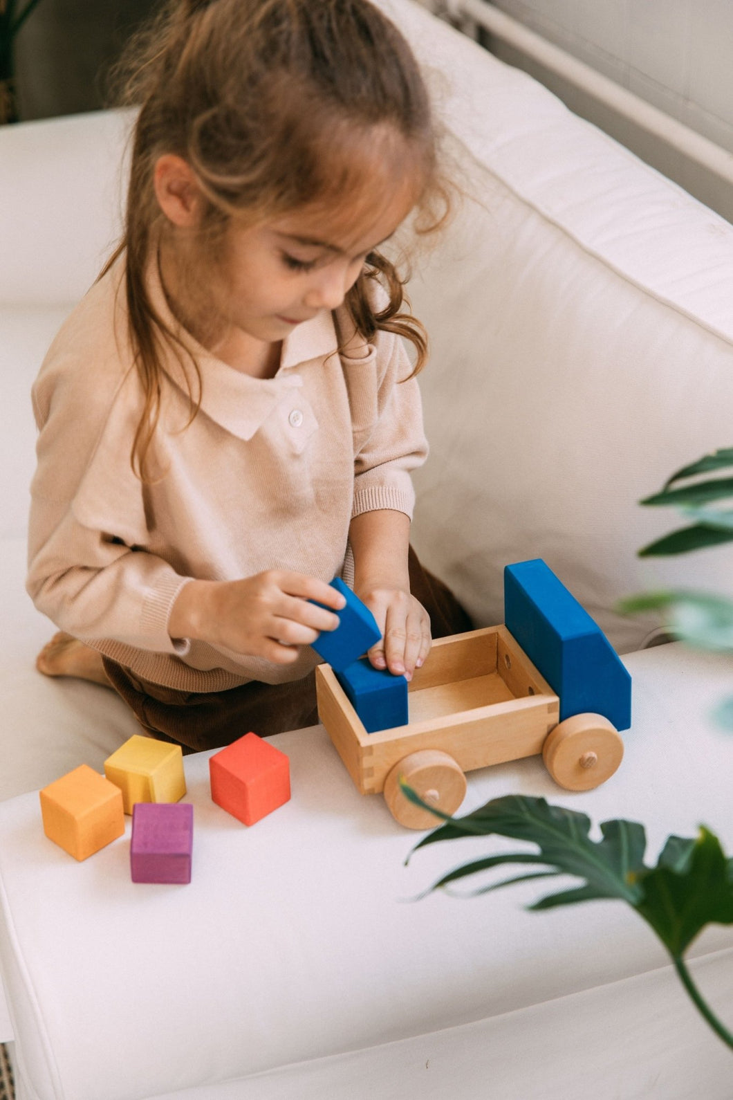 The Wooden Truck by Avdar - Wood Wood Toys Canada's Favourite Montessori Toy Store
