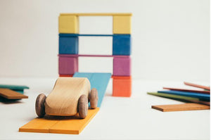 Thin Flat Block Set by Avdar - Wood Wood Toys Canada's Favourite Montessori Toy Store