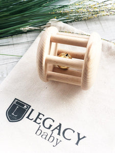 Wooden Bell Cylinder Roller Toy by Legacy Learning Academy
