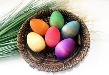 Load image into Gallery viewer, Rainbow Wooden Eggs (Set of 6) by Legacy Learning Academy