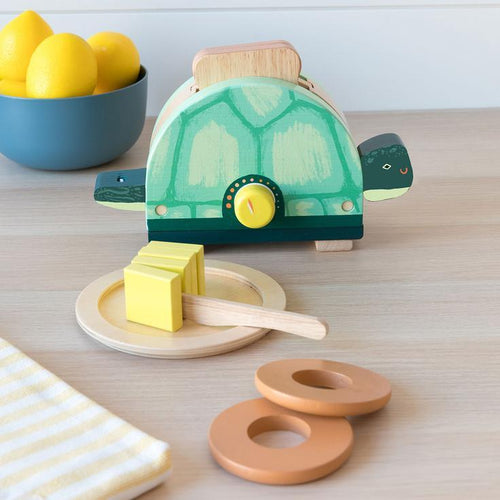 Toasty Turtle Toaster by Manhattan Toys - Wood Wood Toys Canada's Favourite Montessori Toy Store